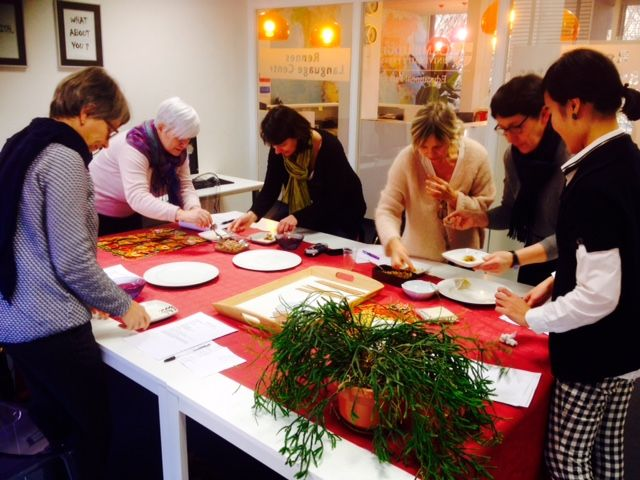Asian cooking class chez Rennes Language Center